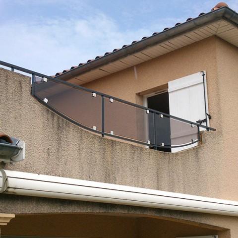 Balcon verre