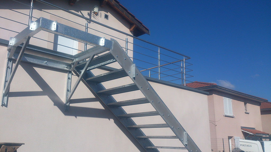 Escaliers Metalliques Lyon Escalier Metal Lyon Mions Portail