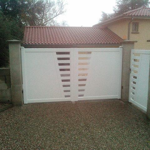 Portail et portillon aluminium blanc