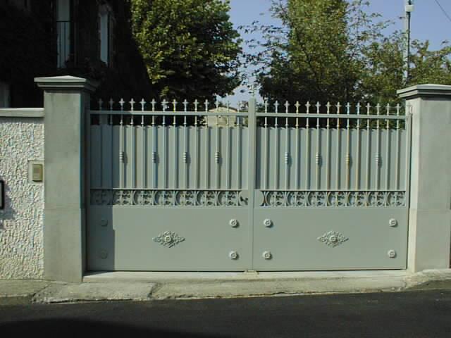 Portail metal for Portail jardin metal