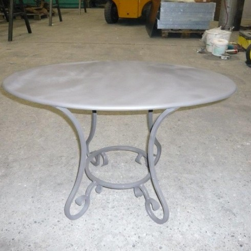 Table métal fer forge